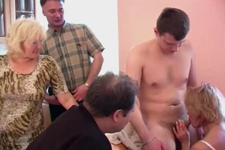 A man invites guests to arrange swingers incest.